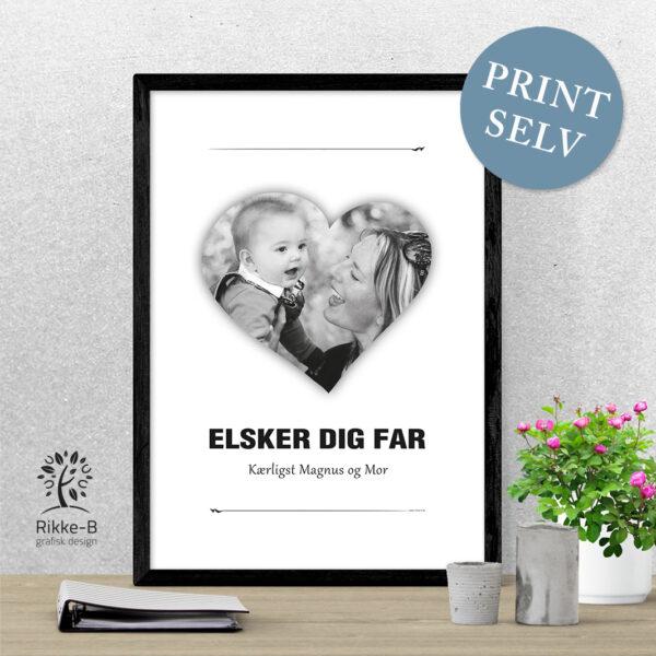 personlig-print-elsker-dig-far-eget-foto-sort-hvid-print-selv
