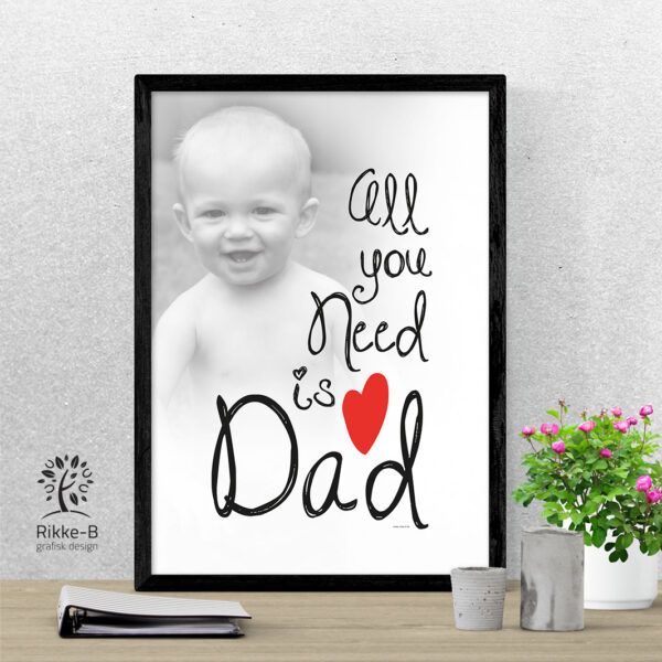 personlig-print-all-you-need-is-dad-eget-foto