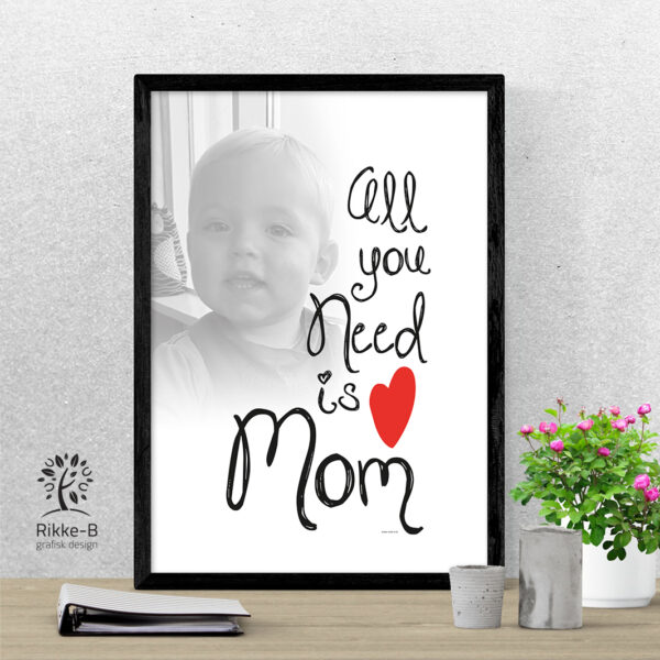 personlig-print-all-you-need-is-mom-eget-foto
