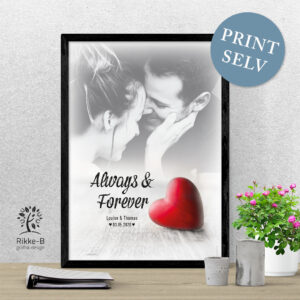 personlig-print-always-and-forever-foto- print-selv